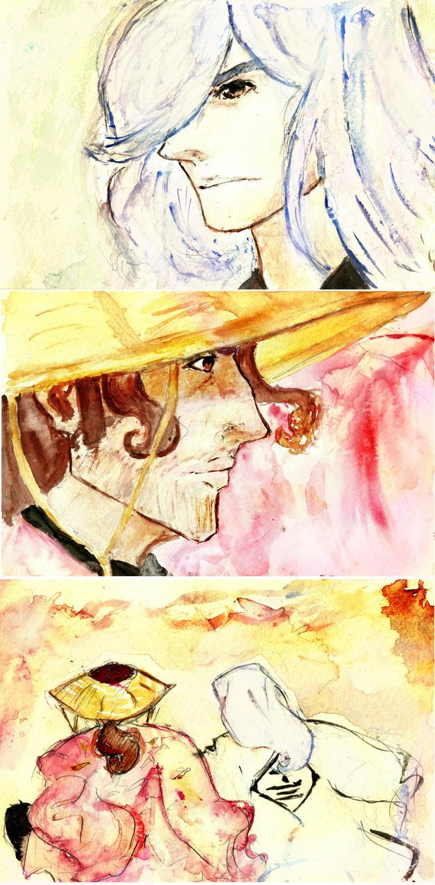 Shunsui Juushiro Watercolor Art by Gleca