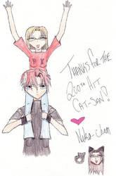 Thanks fer da 200 hits Cat-san by eadesuneko