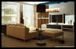 living room at PM by silentlykiss