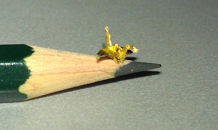 mini origami crane by JSaken on DeviantArt - photo#1