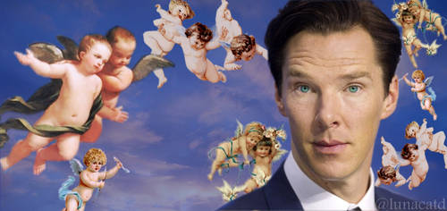 Ben in In the Sky with Cherubs - Happy Birthday B! by lunacatd