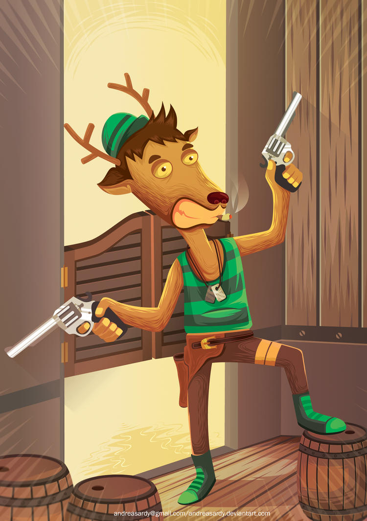deer ambush by andreasardy