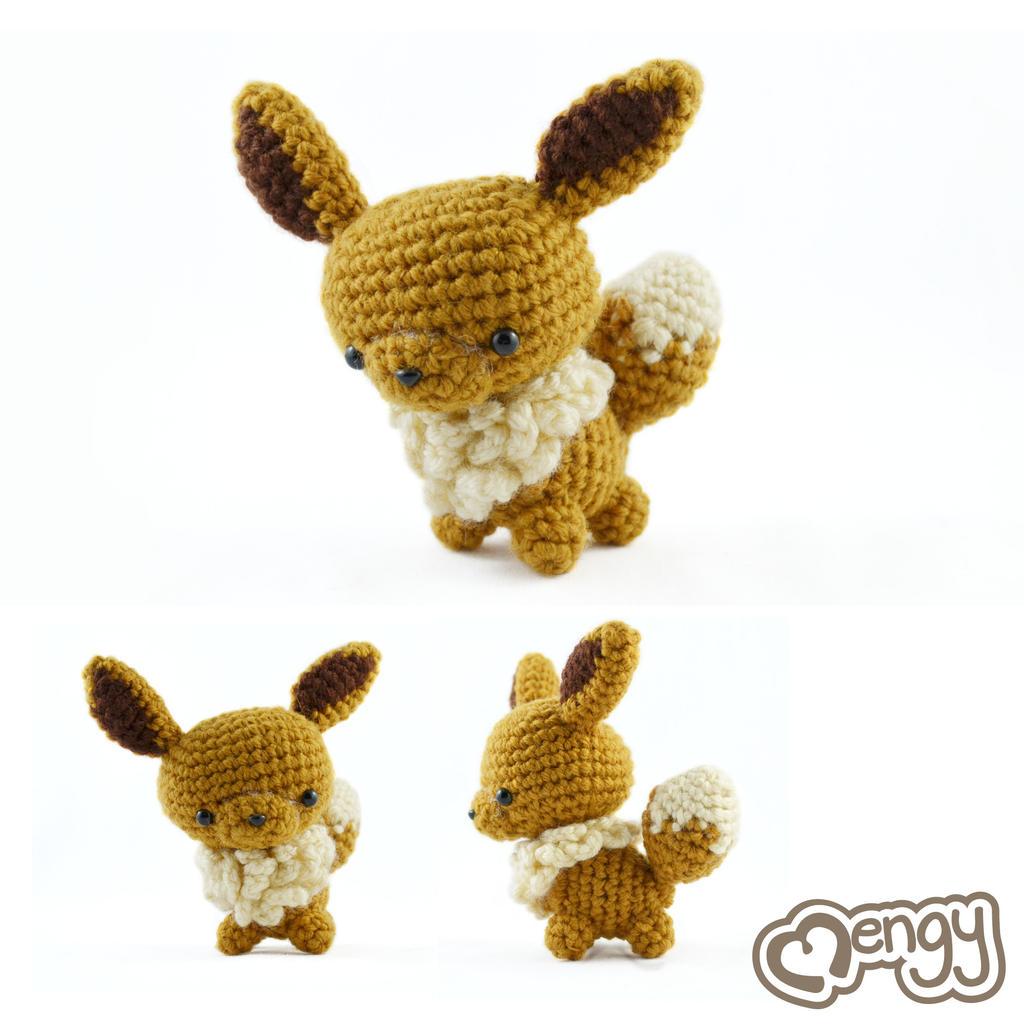 Crochet Pokemon : Eevee Pokemon Amigurumi by mengymenagerie on DeviantArt