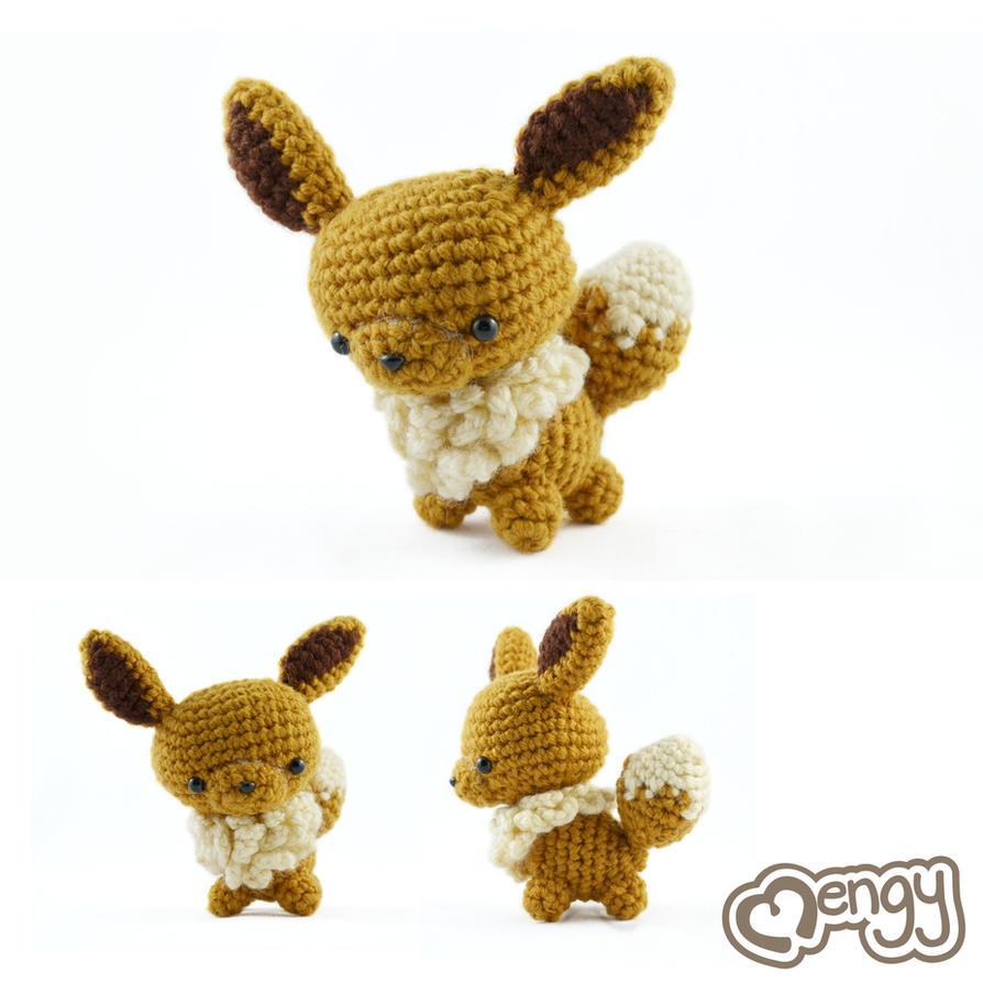 Amigurumi Crochet Pattern Etsy : Eevee Pokemon Amigurumi by mengymenagerie on DeviantArt