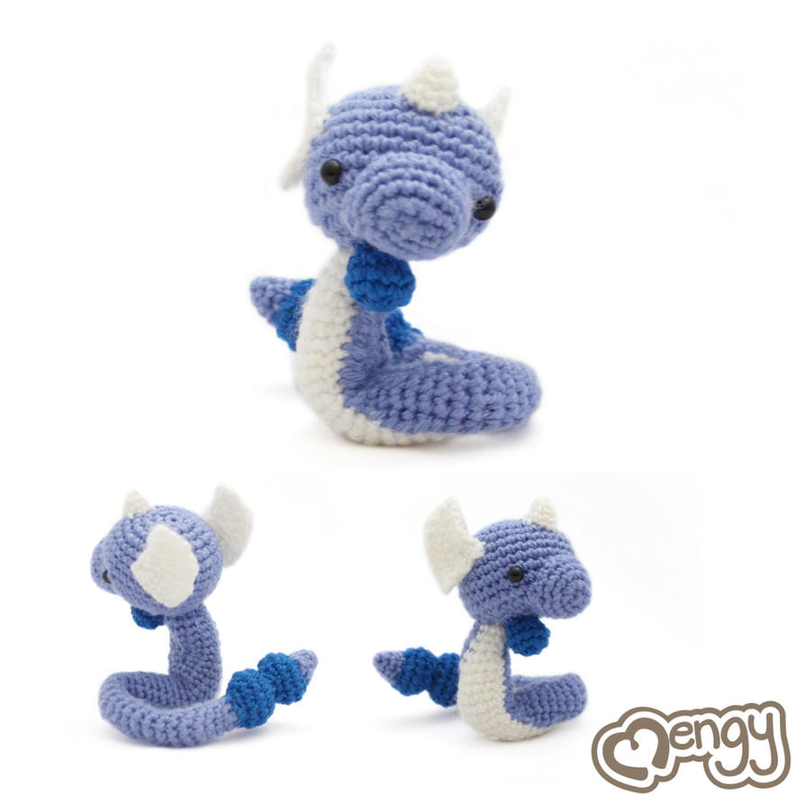 Dragonair Amigurumi Pattern : Dragonair Pokemon Amigurumi by mengymenagerie on DeviantArt