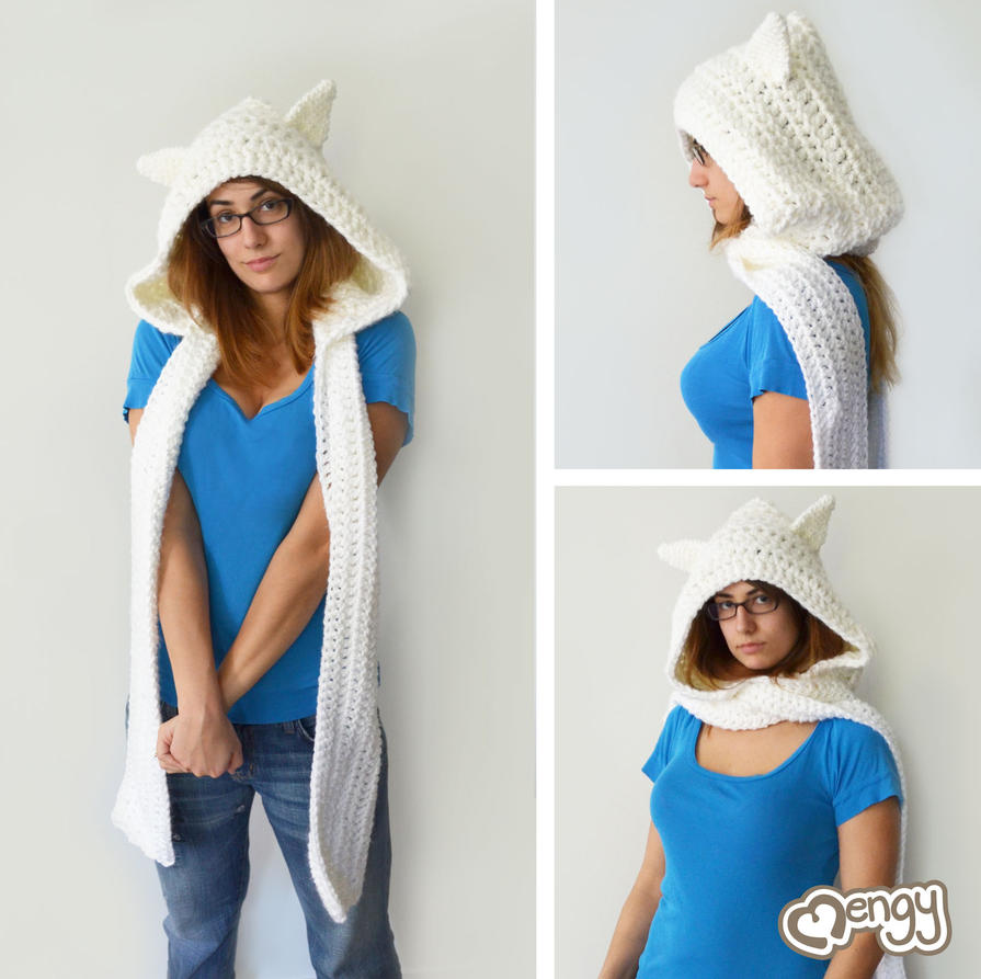 One Skein Knitting Pattern : Finn the Human Scoodie by mengymenagerie on DeviantArt
