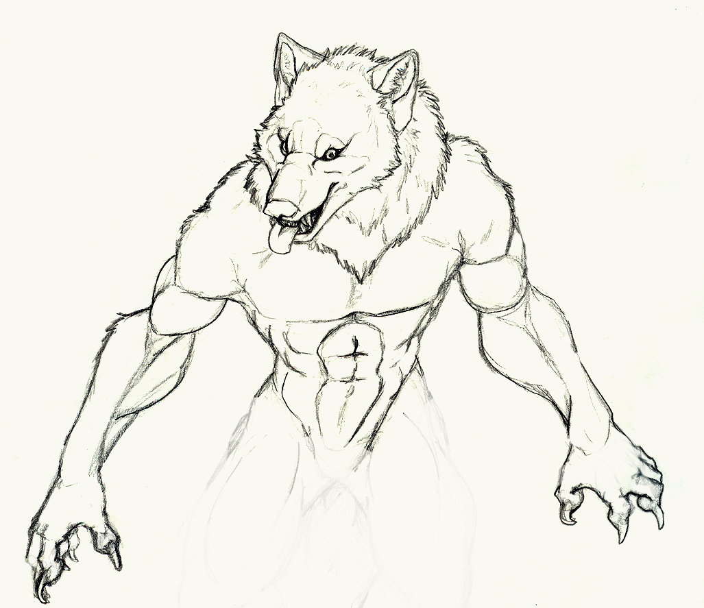 easy drawings of werewolves - photo #27