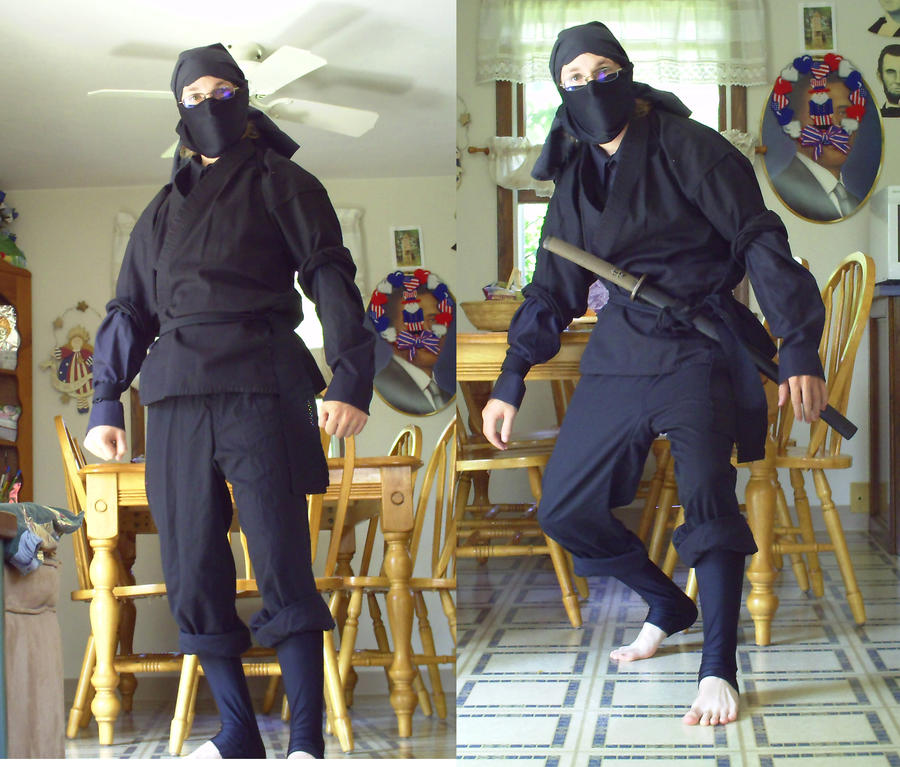 how to become a ninja at home