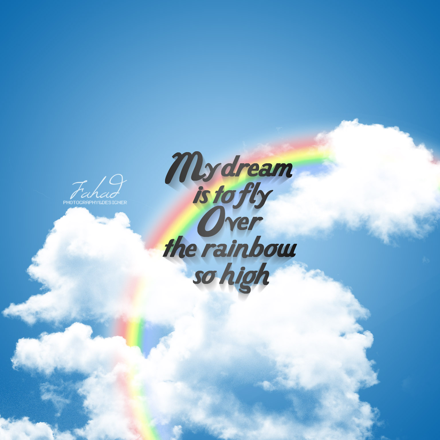 dream_to_fly_by_fahadsaud-d5a9awh Verwunderlich so where Over the Rainbow Dekorationen