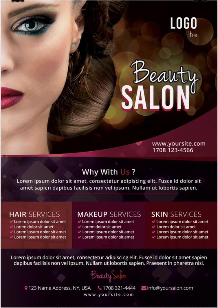 Beauty Salon Free PSD Flyer Template By Stockpsd On DeviantArt