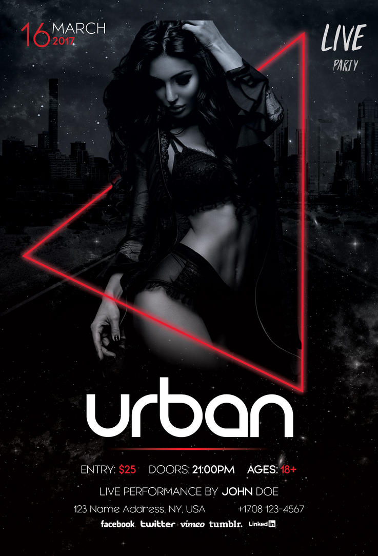 urban download free psd flyer template by stockpsd - Free Psd Flyer Templates