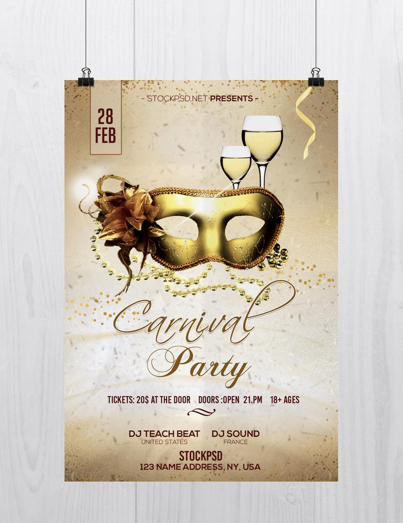 Carnival Party Free Flyer Psd Template By Stockpsd On Deviantart