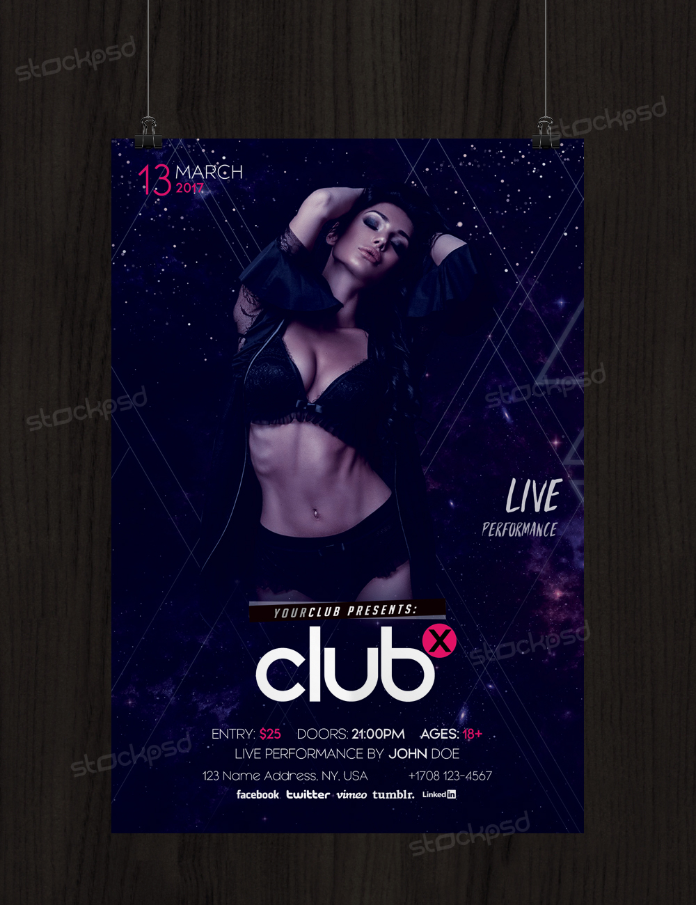 Club X Free Flyer Template Psd by stockpsd on DeviantArt
