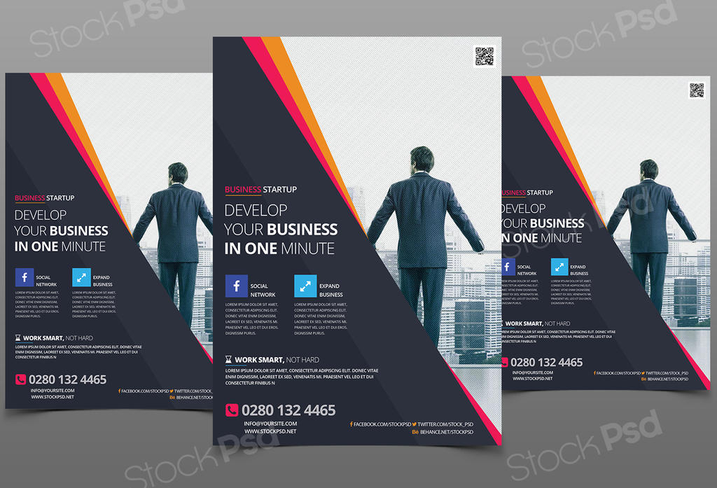 Business Flyer Download Free Psd Flyers Template By Stockpsd On