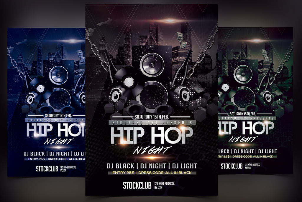 Hip Hop Music Free Psd Flyer Template By Stockpsd On Deviantart