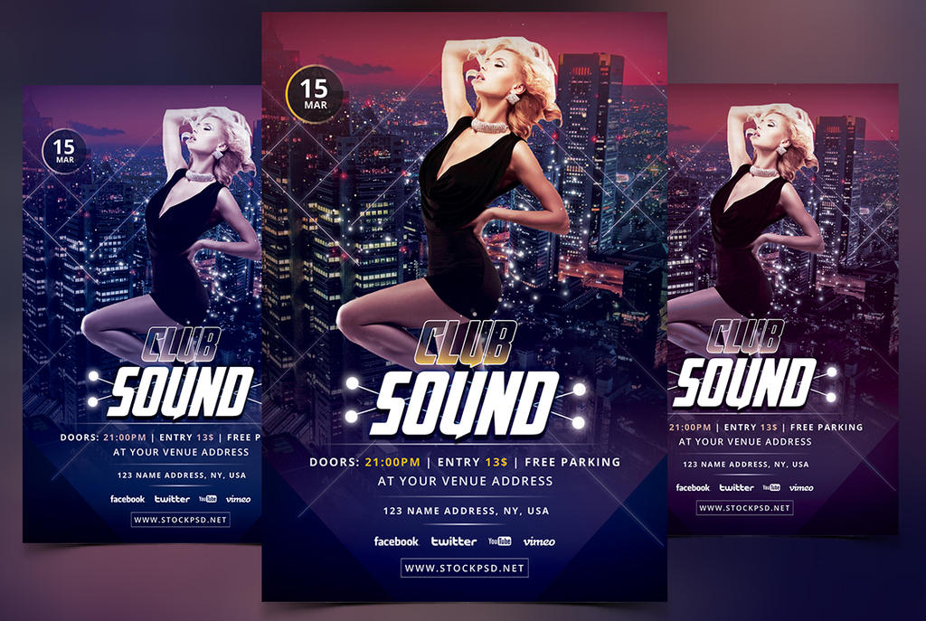 club sound free psd flyers templates by stockpsd