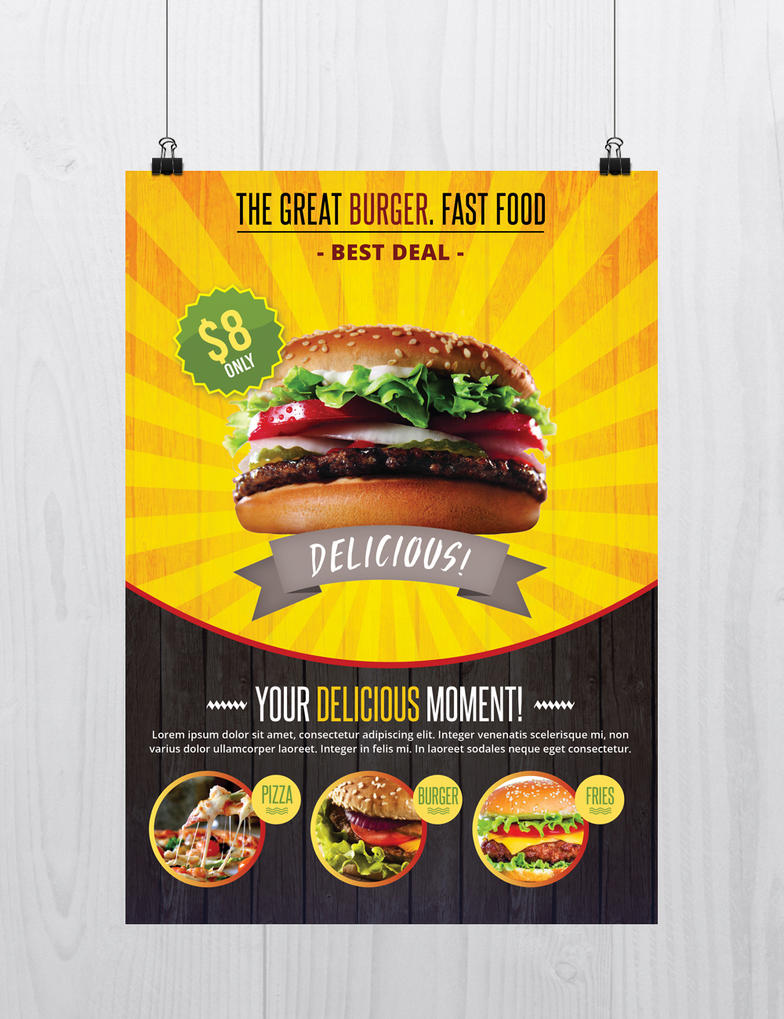 Fast Food Download Free Psd Flyer Template By Stockpsd On Deviantart