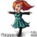 Pixel Maggie by cosmogyral-delirium