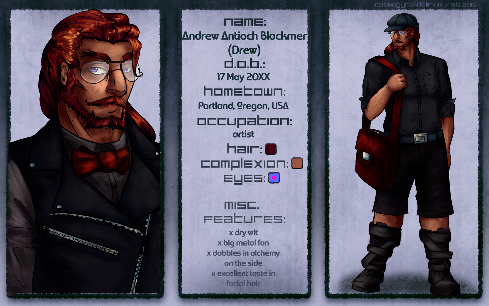 Character Sheet: Drew by cosmogyral-delirium