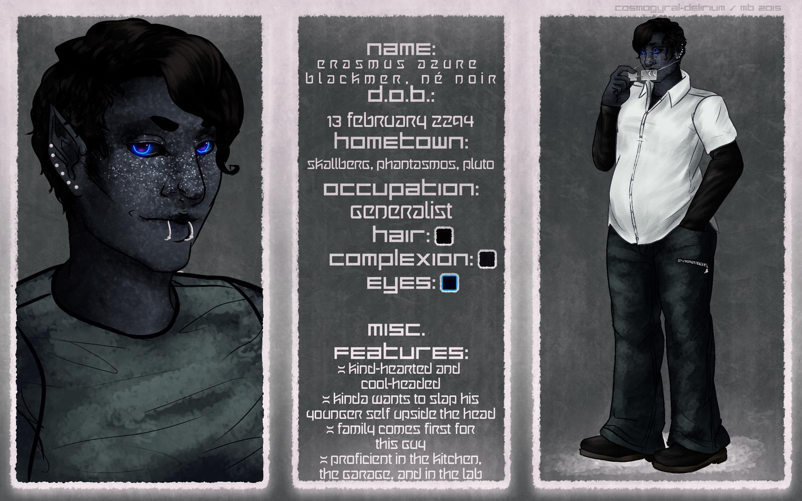 Character Sheet: Raz (Alt. Version) by cosmogyral-delirium