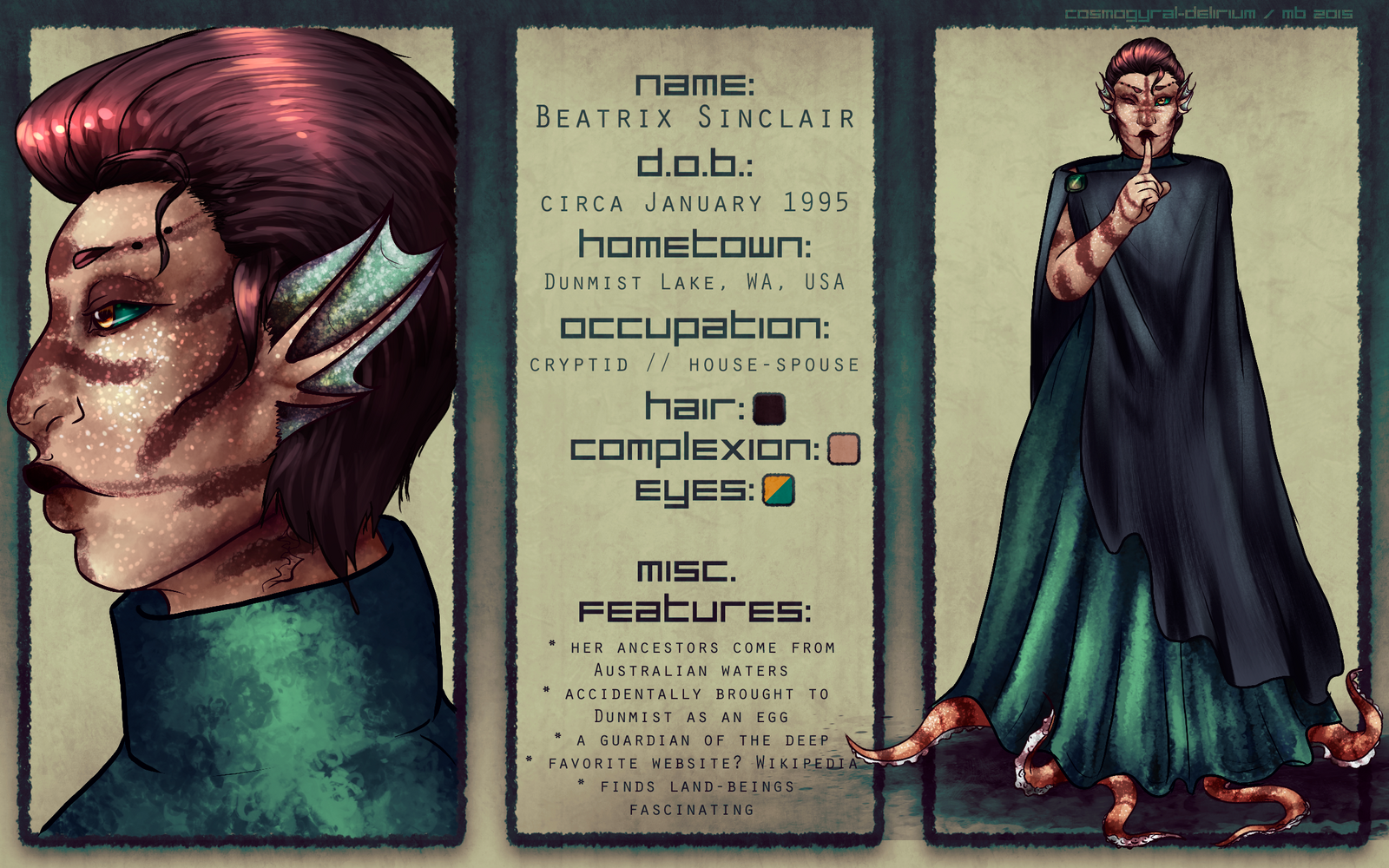 Character Sheet: Beatrix by cosmogyral-delirium