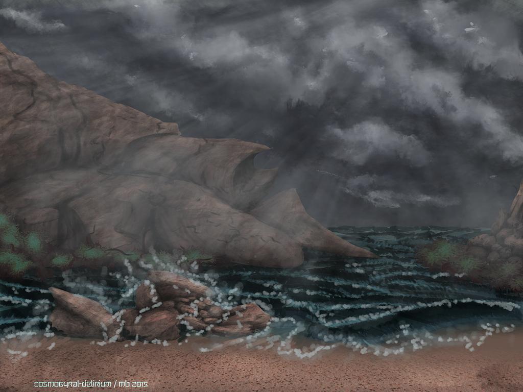 Dreary Seashore by cosmogyral-delirium