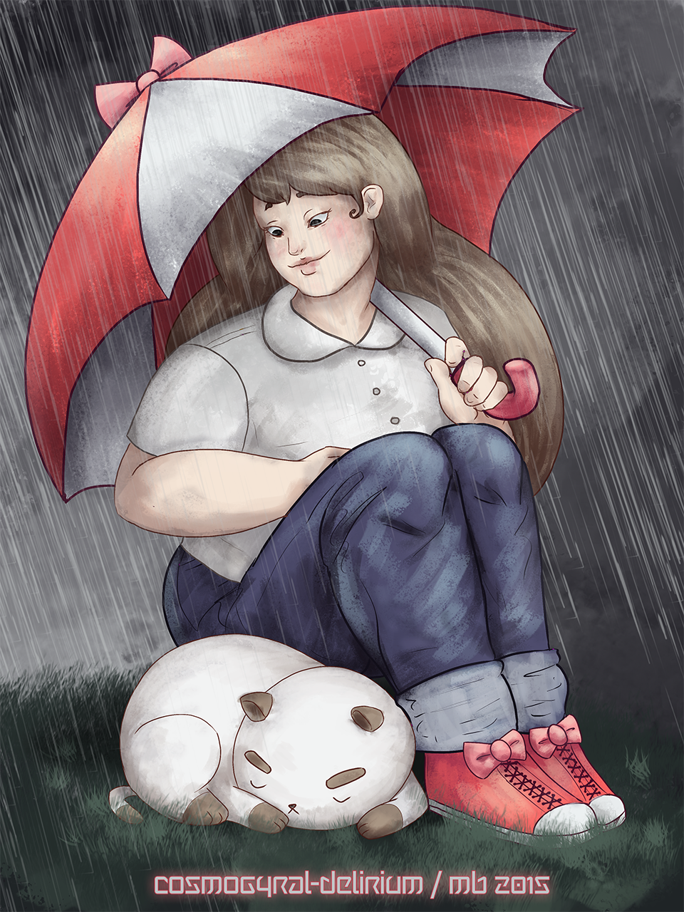 Nap in the Rain by cosmogyral-delirium
