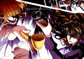 Natsuhi vs Beatrice - Umineko manga coloring by MohameDZero3