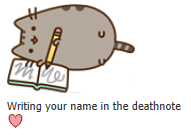 Day 41: Pusheen X Deathnote by ajguy93