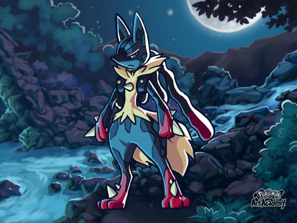 Pokemon Art Academy Stuff Mega Lucario 498318453