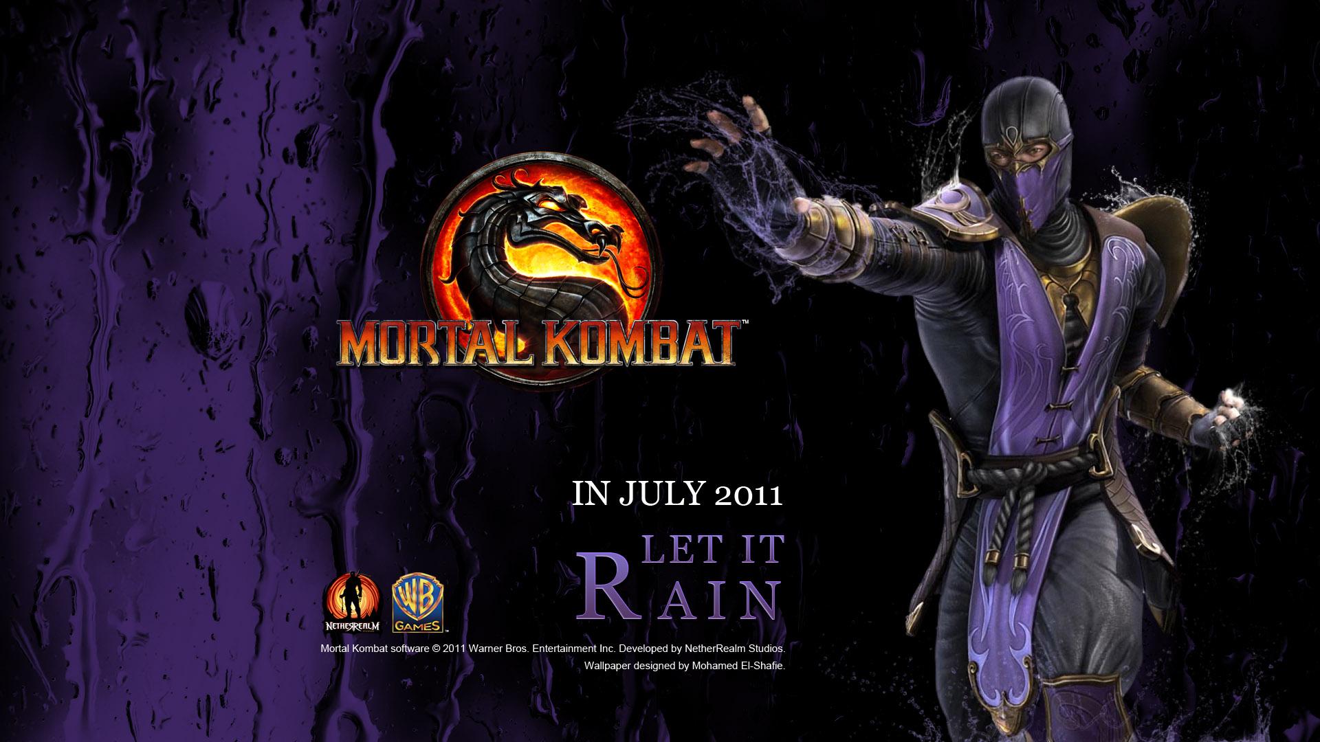 Rain Mortal Kombat Wallpaper  WallpaperSafari
