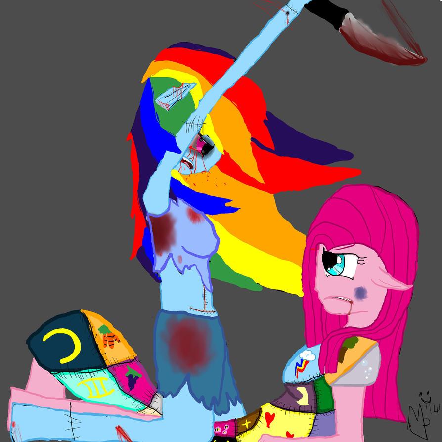 Revenge Rainbow Dash V S Pinkamena By Artislife512 On