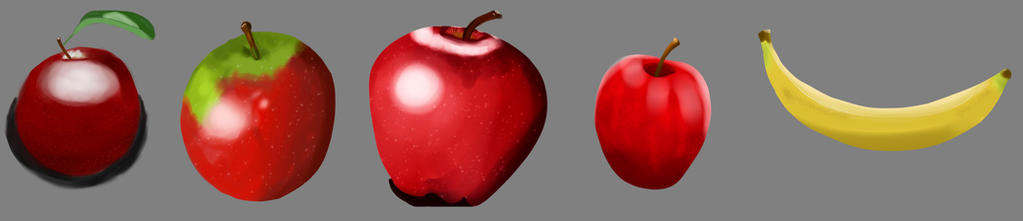 Apples and Banana Practice by Cestarian