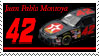 Juan Montoya Stamp by nascarstones