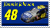 Jimmie Johnson Stamp by nascarstones