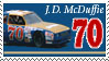 J.D. McDuffie Stamp by nascarstones