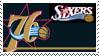 Philadelphia 76ers Stamp by nascarstones