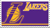 Los Angeles Lakers Stamp by nascarstones
