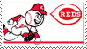 Cincinnati Reds Stamp 70s by nascarstones