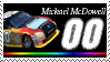 Michael McDowell stamp Micro by nascarstones