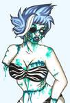Blue Zombie Girl
