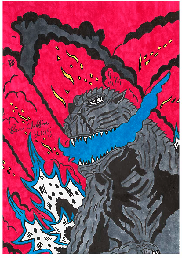 My Godzilla 2016! (Scanner quality) by Shin-Ben
