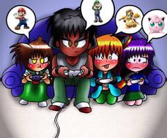 Playing Super Smash Bros. Brawl by Rokku-D