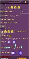 Goku Black SSJ sprite sheet