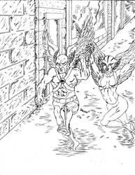 Hawk Man And Hawk Girl by DgWaldo