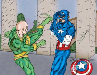 Captain America Vs Baron Von Stucker Colored