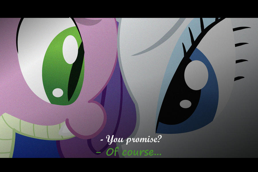 Spike And Rarity Screen Capped by ThePokemonTrainer