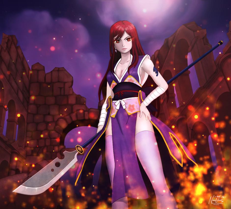 Erza Scarlet - Robe of Yuen by highlightsgfx