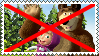 Anti Masha and Bear stamp by alexeigribanov