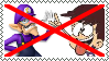 Anti Waluigi X Luna Loud Stamp by alexeigribanov